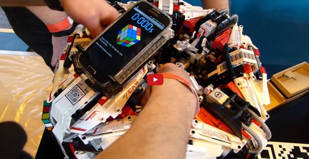 Cubestormer 3 Robot rubik's Cube galaxy s4 android