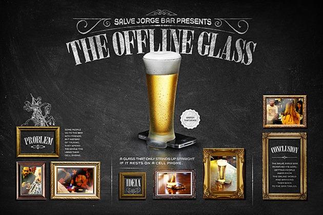 Offline Glass pahar socializare smartphone