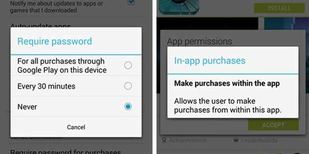achizitii google play in-app purchase