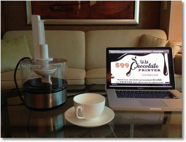 ChocaByte este o imprimantă 3D ce funcţionează cu… ciocolată
