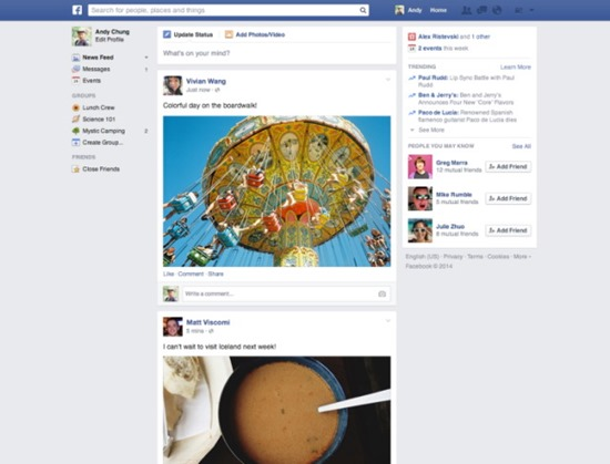 new facebook-news-feed update