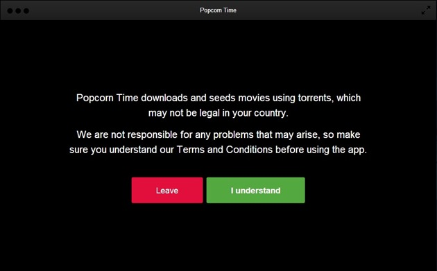 popcorn-time player filme torrent