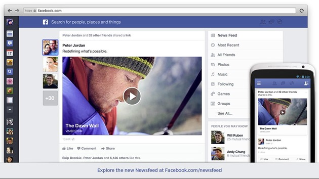 redesign facebook newsfeed