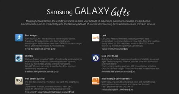 samsung galaxy s5-gifts