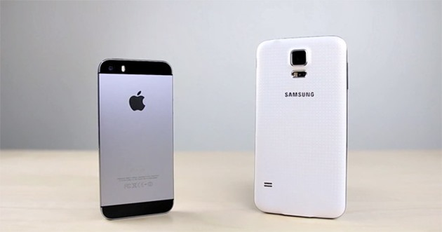 Apple iPhone 5S Galaxy S5 tranzitie