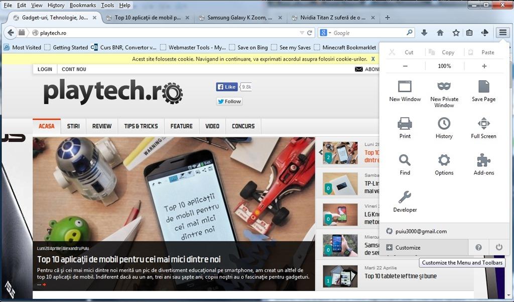 S-a lansat Mozilla Firefox 29, arată diferit şi poate fi personalizat la maximum