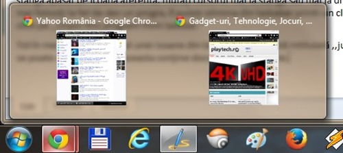 Taskbar windows 7 programe deschise