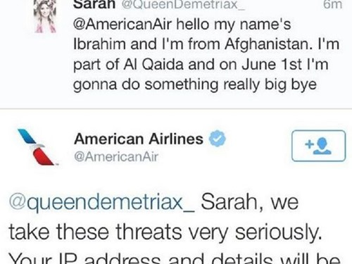 Twitter arestare American Airlines aresstare