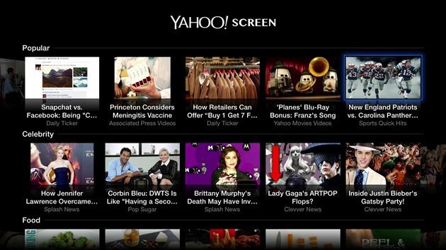 seriale Yahoo-Screen update