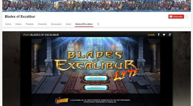 blades of excalibur joc online-youtube