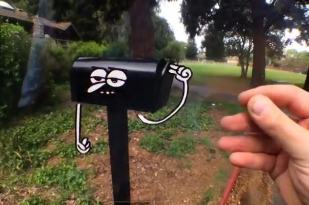Un artist demonstrează vizual realitatea augmentativă [VIDEO]