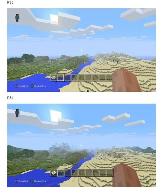 Minecraft pe PS3 şi PS4 –  reuşiţi să găsiţi diferenţele?