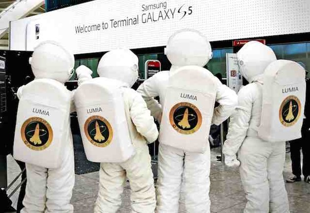 Samsung Galaxy S5 Heathrow Microsoft gluma