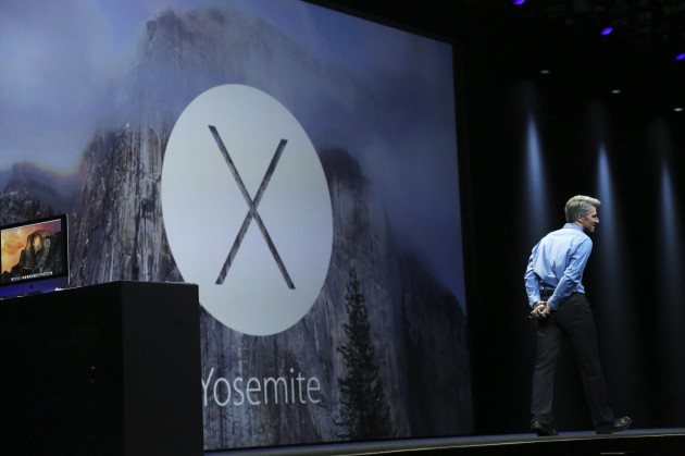 Apple vice president of software engineering Craig Federighi introduces Apple's IOS X Yosemite operating system  at the World Wide developers conference in San Francisco
