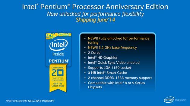 Intel dezvăluie noul procesor deblocat Pentium