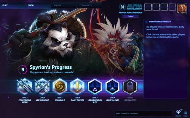 blizzard heroes of the storm hots-alpha