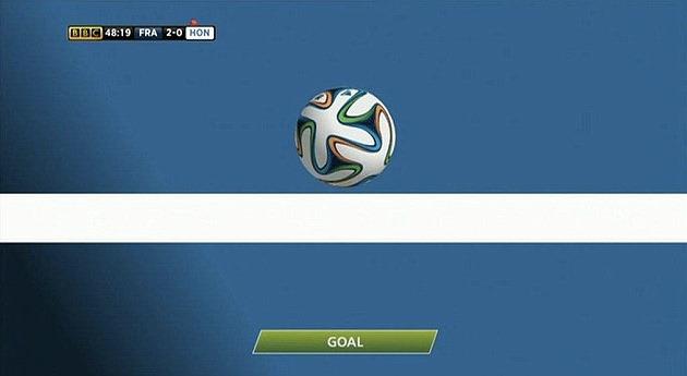 Tehnologia goal-line ajută Franţa să câştige un gol la Campionatul Mondial