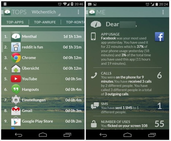 menthal-android utilizare smartphone