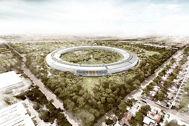 Apple lucrează la construcția noului său campus