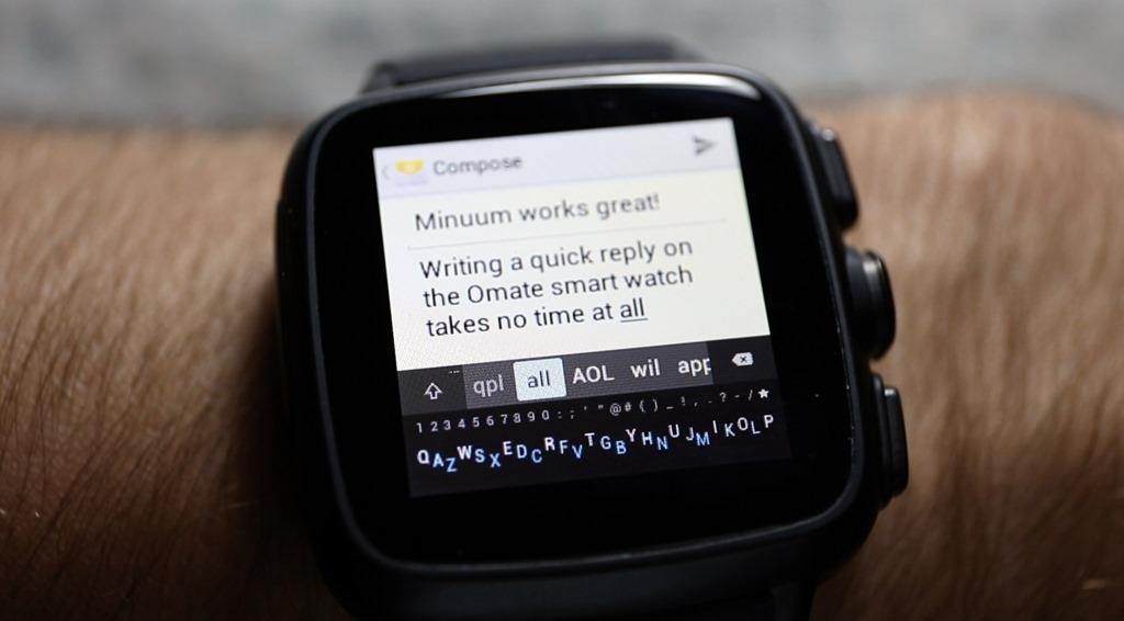 Minuum, cea mai interesantă tastatură, debutează pe ceasurile cu Android Wear [VIDEO]