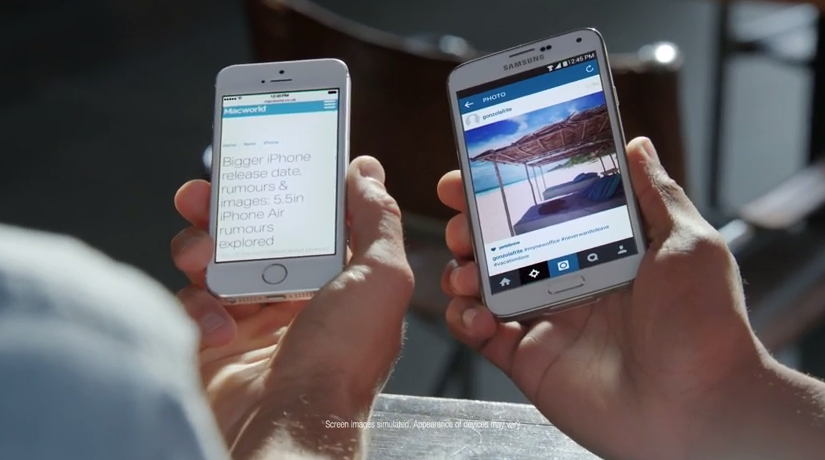 Ironie în reclame: Samsung Galaxy S5 versus iPhone 6 [VIDEO]