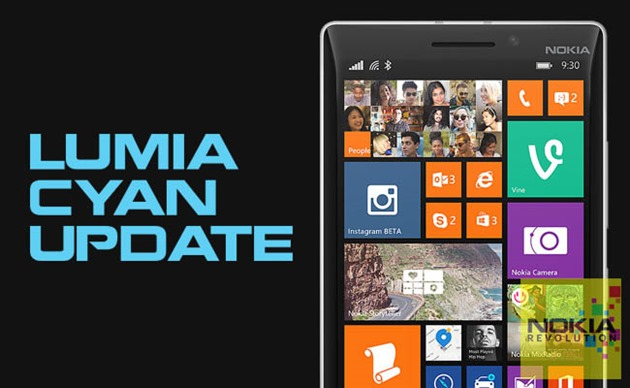 Windows Phone 8.1 nokia lumia-cyan-update