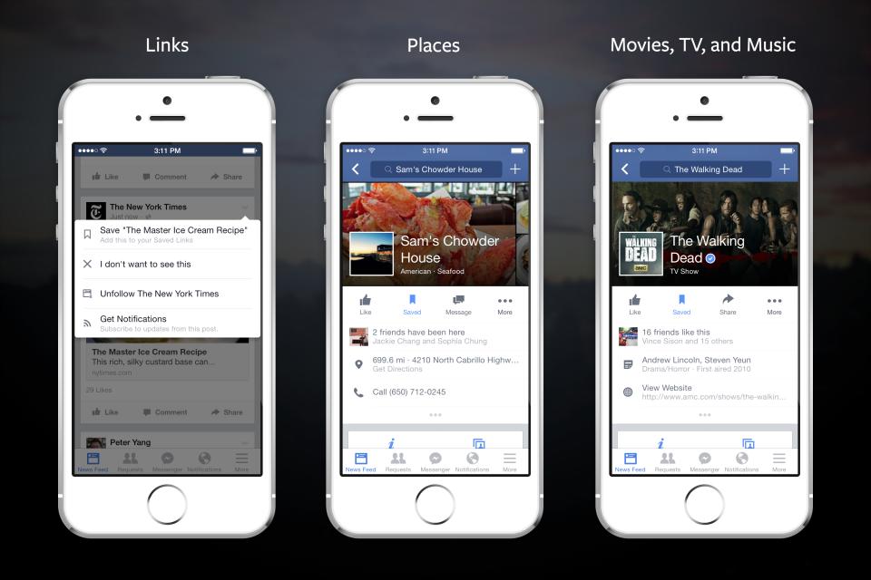 Aplicația de Facebook pentru iOS și Android introduce Save for Later
