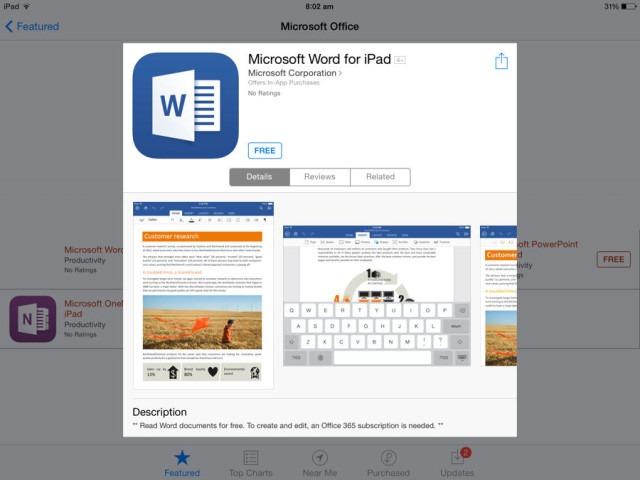 Microsoft Office, în curând pe tabletele Android