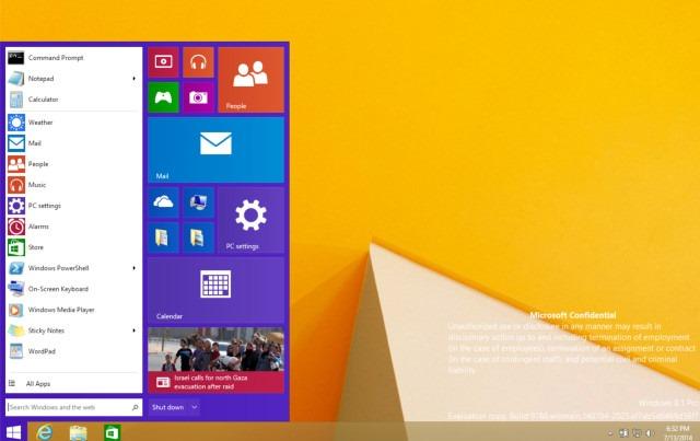Cum va arăta meniul de start de pe Windows 9