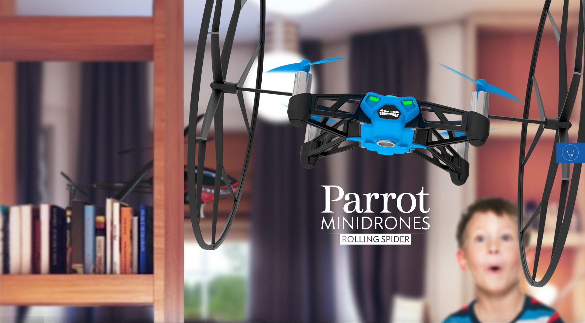 Dronele Parrot Rolling Spider și Jumping Sumo, disponibile la Orange