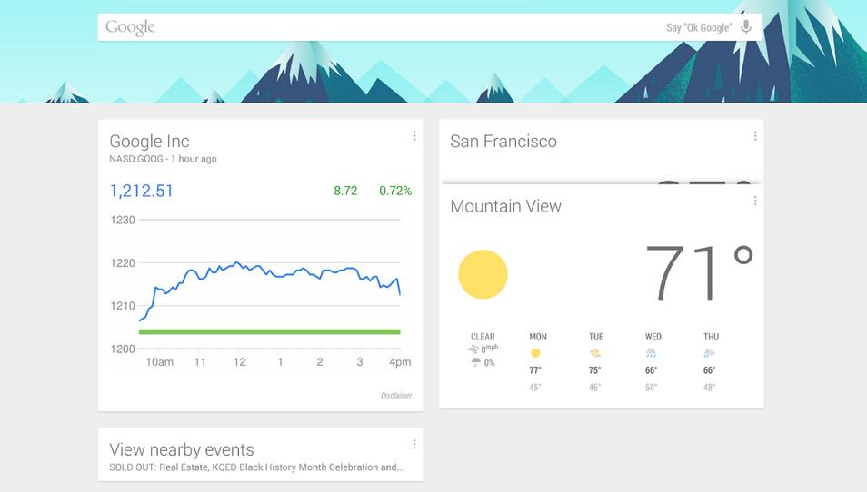 Google Now, disponibil pe orice telefon cu Android
