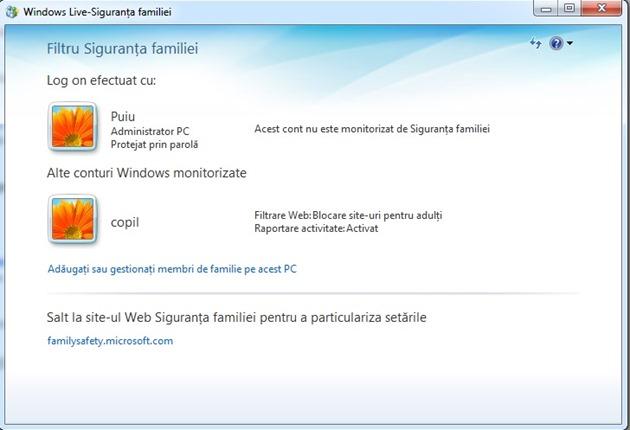 Windows Live Siguranta Familiei