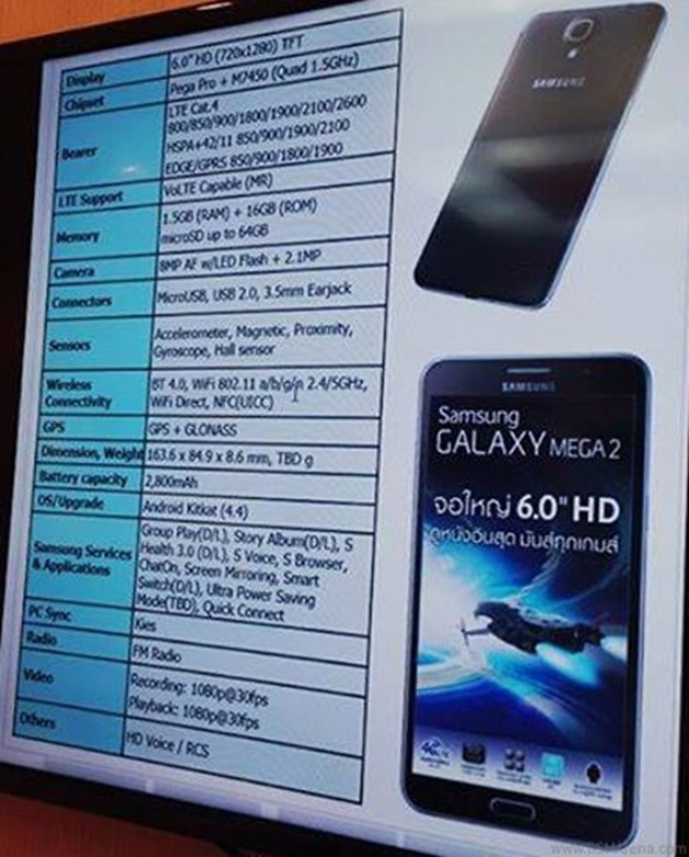 galaxy-mega-2-specifications