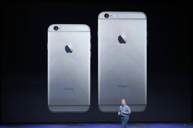 Phil Schiller, Senior Vice President at Apple, Inc. speaks about the iPhone 6 and iPhone 6 Plus during an Apple event at the Flint Center in Cupertino