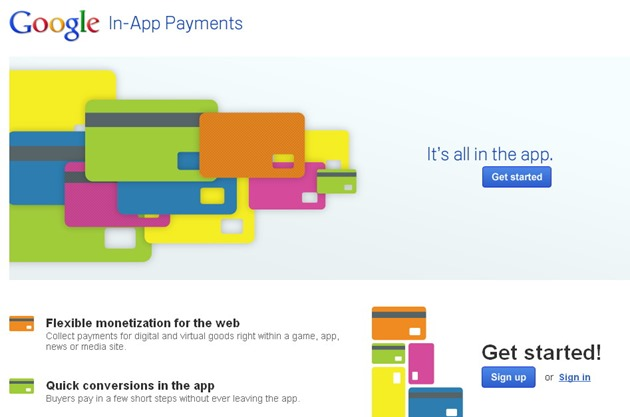 Google In App Payments