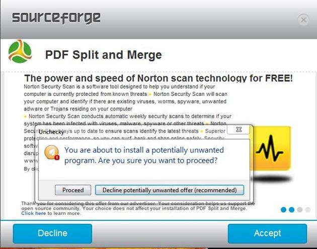 Sourcefourge junkware