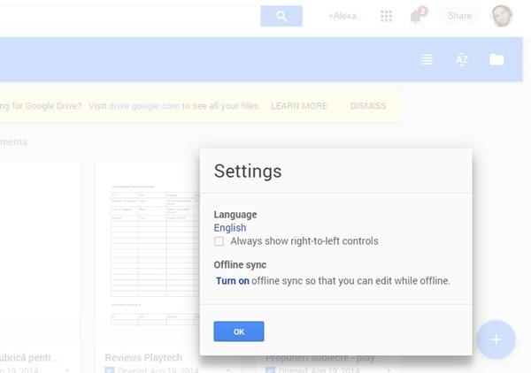 google drive offline docs