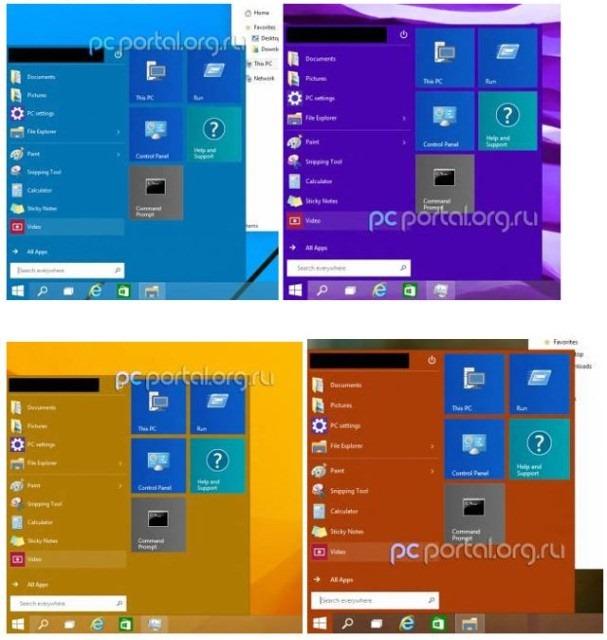 Meniul de Start din Windows 9 este un mic cameleon