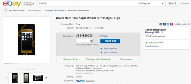 Apple iPhone 6 prototip ebay