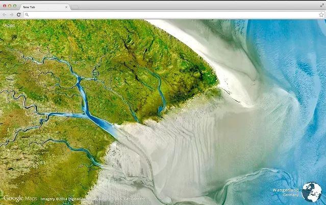 O extensie de Chrome vă oferă imagini din satelit în fiecare tab nou