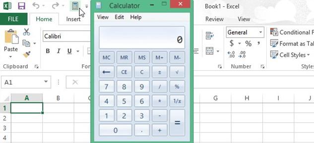 Microsoft Excel Calculator comanda rapida