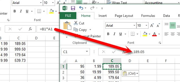 Microsoft Excel conversie din formula in valoare