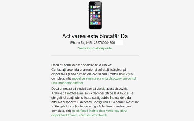 apple activation lock on