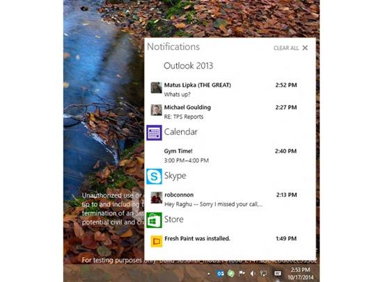 windows-10-action-center wndows phone os x