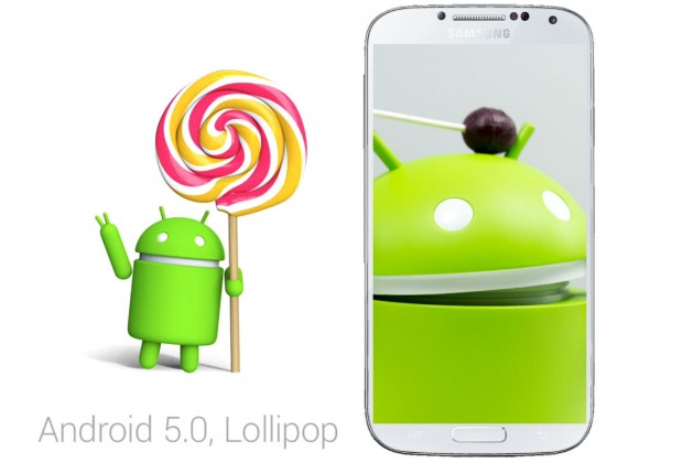 android 5.0 lollipop samsung galaxy s4