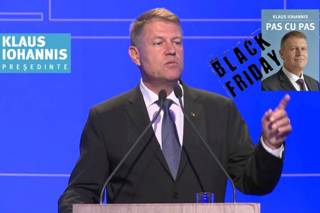 klaus iohannis pas cu pas black friday 2014
