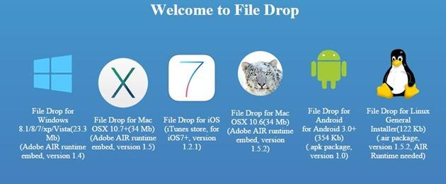 versiuni File Drop