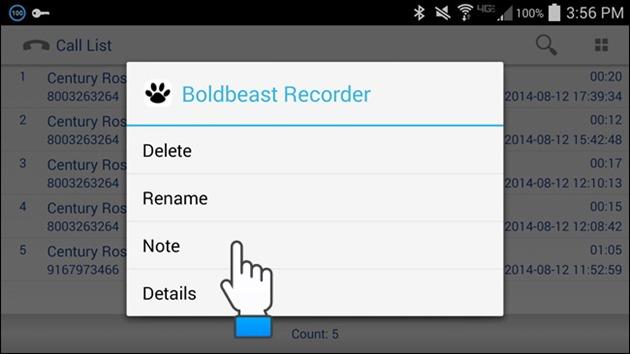 3 Boldbeast Recorder inregistrare apeluri telefonice android