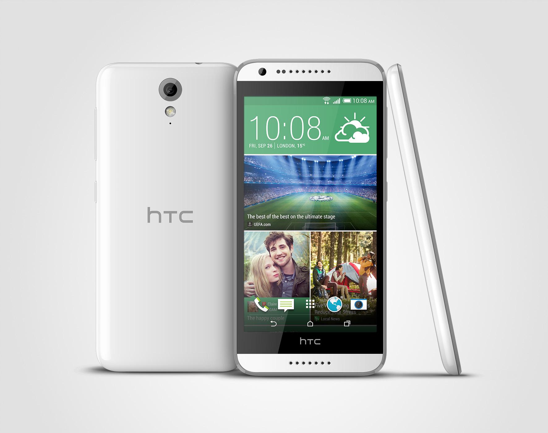 """HTC Desire 620, un smartphone mid-range cu design rafinat și """"ochi"""" ageri"""