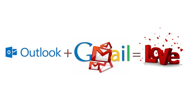 Microsoft Outlook Google Gmail love